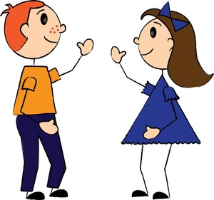 Friends clipart girl and boy