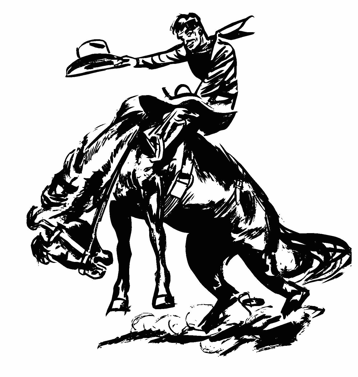 bull rider clip art