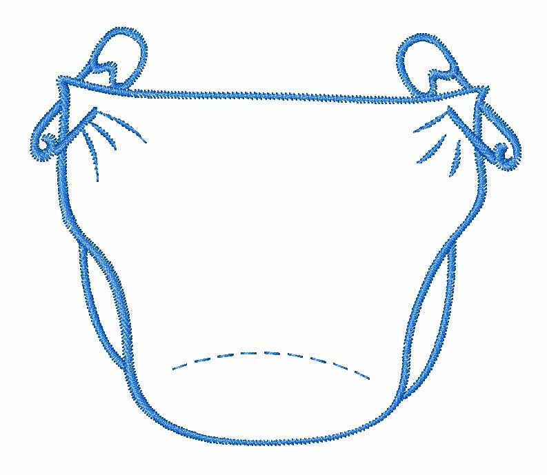 Baby Diaper Clipart