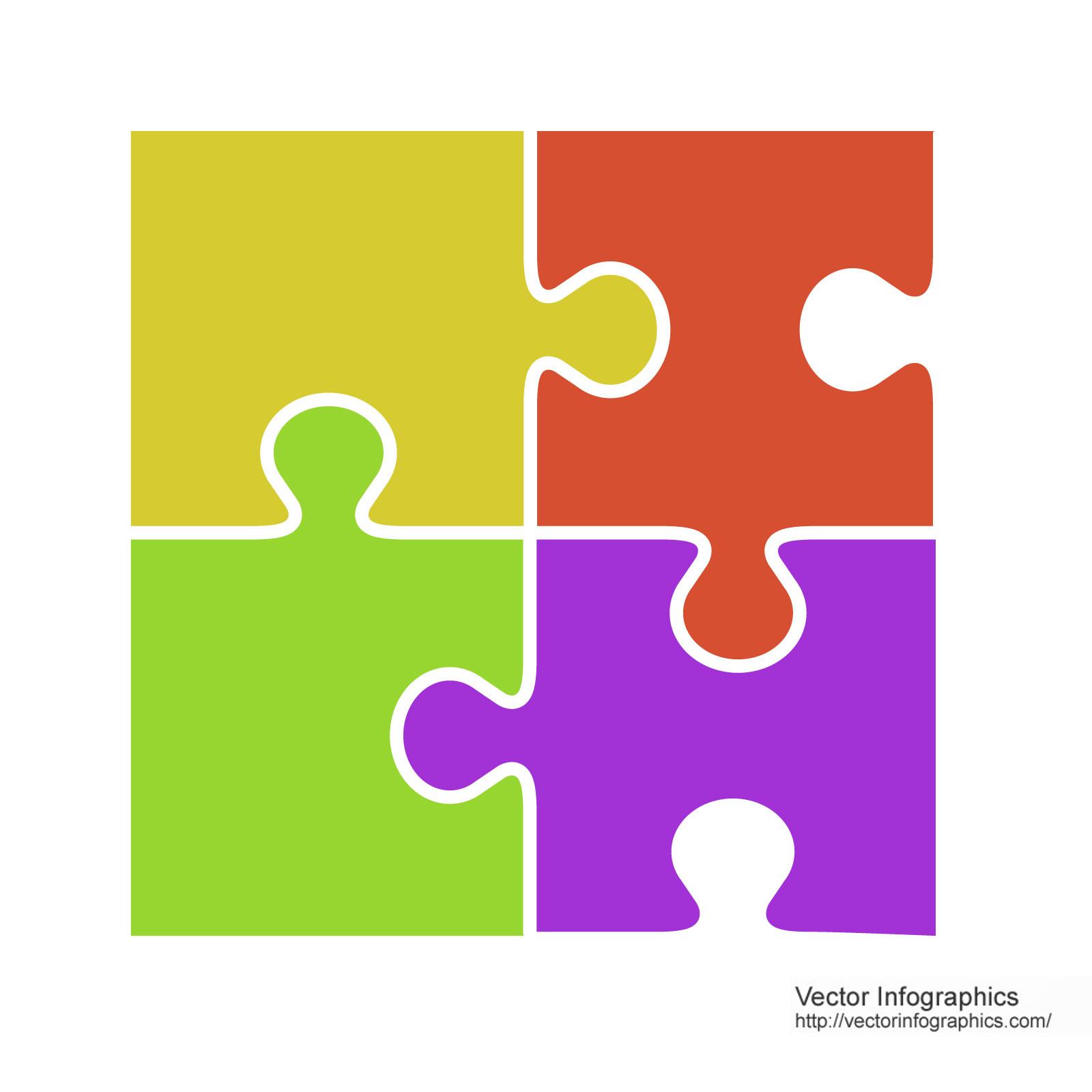 Vector Puzzle Pieces - ClipArt Best