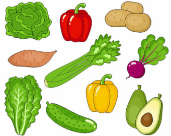 Clip Art Fruits And Vegetables Clipart fruits and vegetables clipart best individual clipart