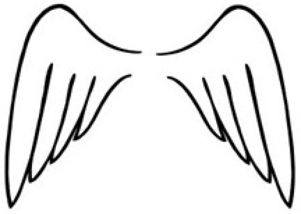 Angel wings coloring pages clipart best for Coloring pages of wings