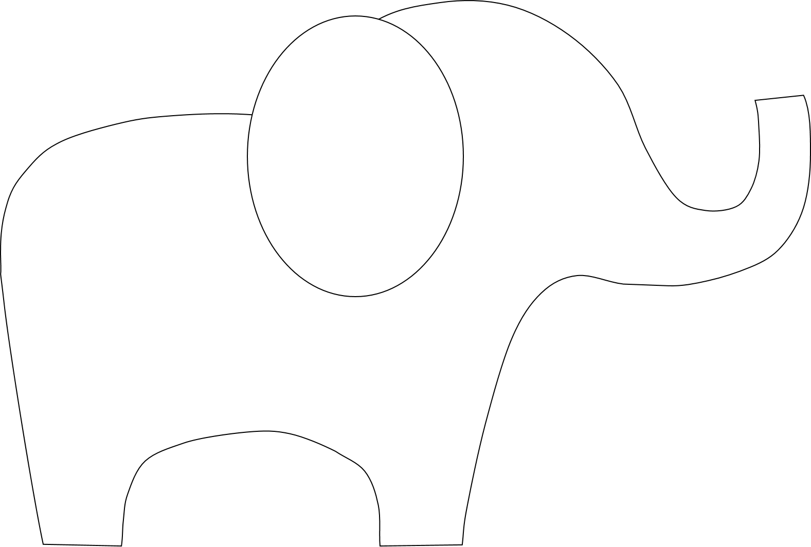 Cut out elephant pattern wwwimgkidcom the image kid has it for Haircut templates