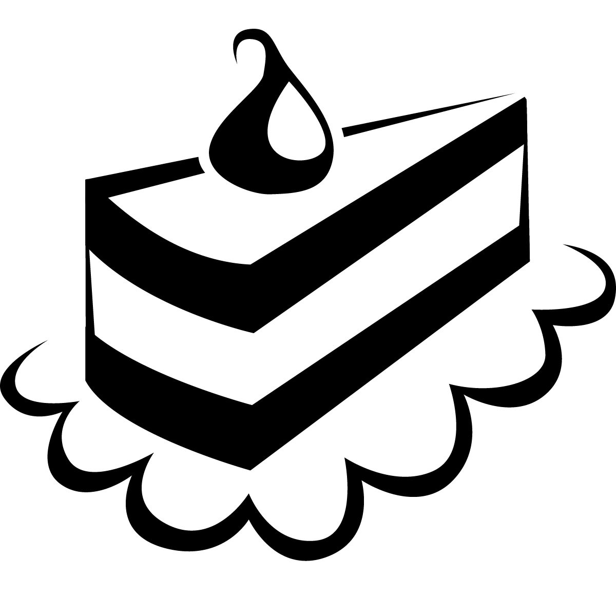 Cake Clip Art Black And White - ClipArt Best