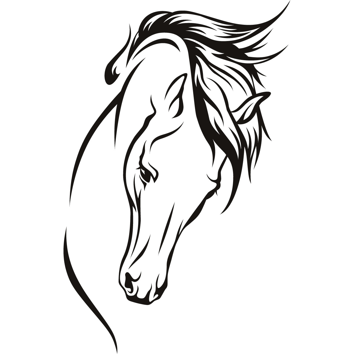 Black Horse Face - ClipArt Best