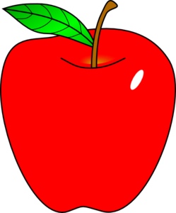 Red Apple clip art - vector clip art online, royalty free & public ...