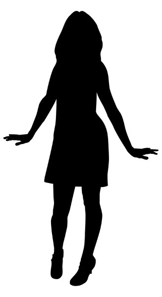 Silhouette Of A Woman In A Dress - ClipArt Best