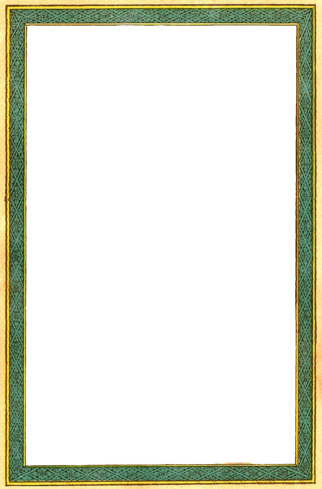 antique images free printable frame green and yellow vintage frame