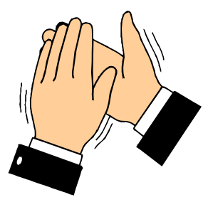 Clapping Hands clip art - vector clip art online, royalty free ...