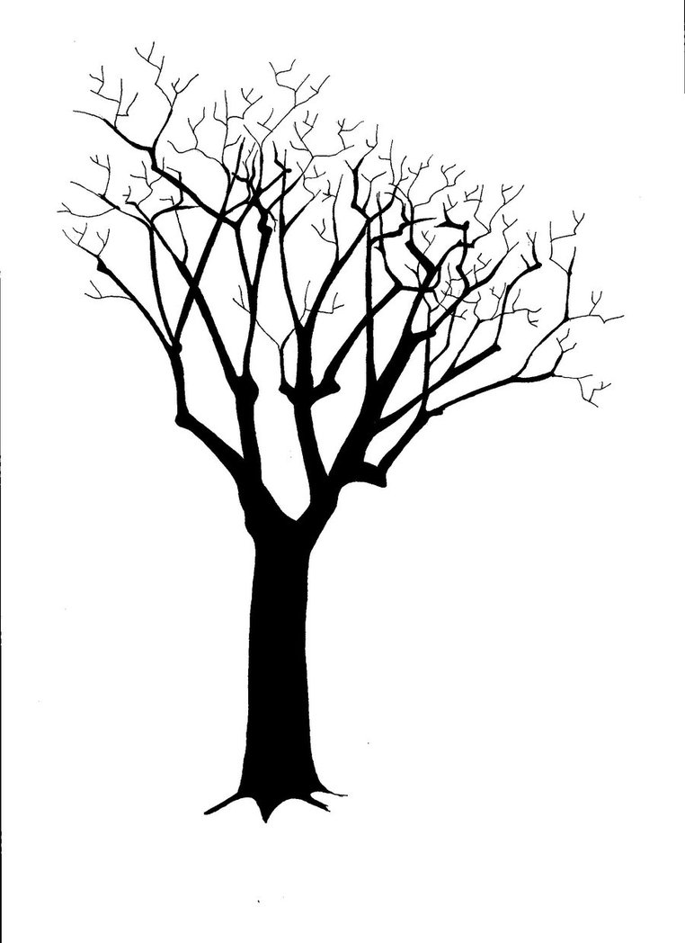 Simple Leafless Tree Silhouette images
