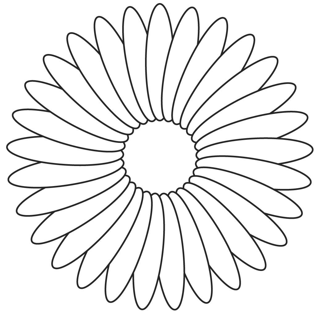 sunflower printable template clipart best
