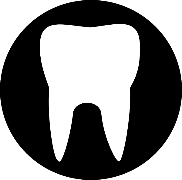 Large Tooth Outline clip art - vector clip art online, royalty ...