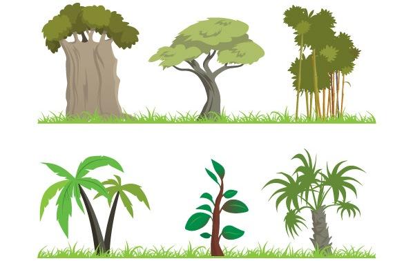 free clipart jungle trees - photo #21