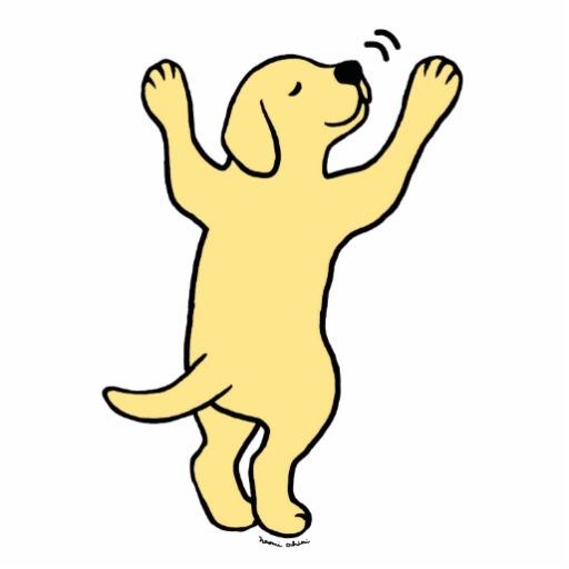 yellow dog clipart - photo #32