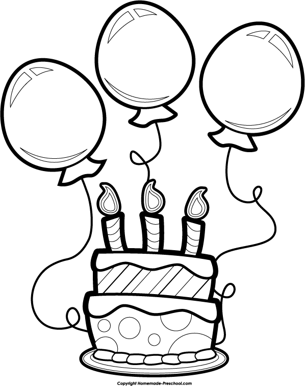 Birthday Cake Clip Art Black And White - ClipArt Best