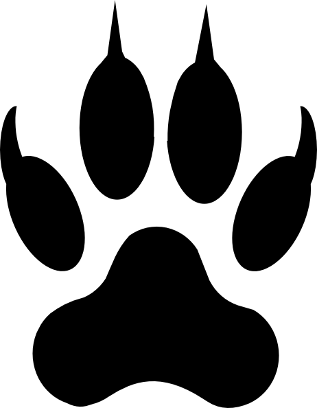 tiger tracks clip art - photo #30