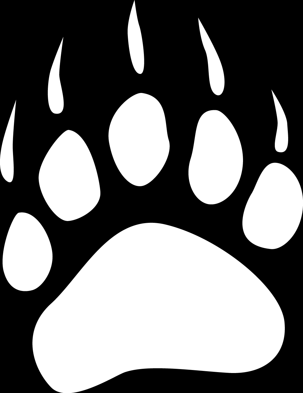 bear footprints template - bear paw print drawing the image kid