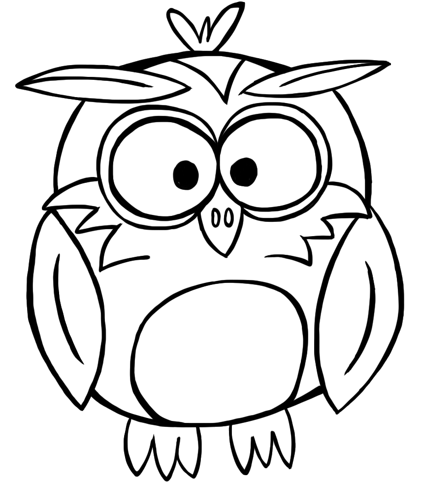 Owl Outline Clip Art - ClipArt Best
