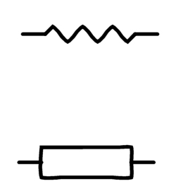 Resistor Diagram Symbol on computer diagram symbols