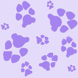 Purple Paw Clipart Best