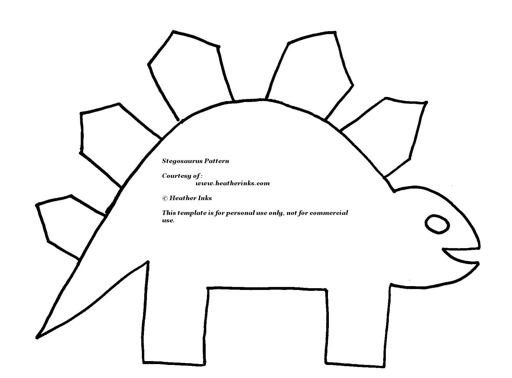 Stegosaurus template clipart best for Dinosaur templates to print