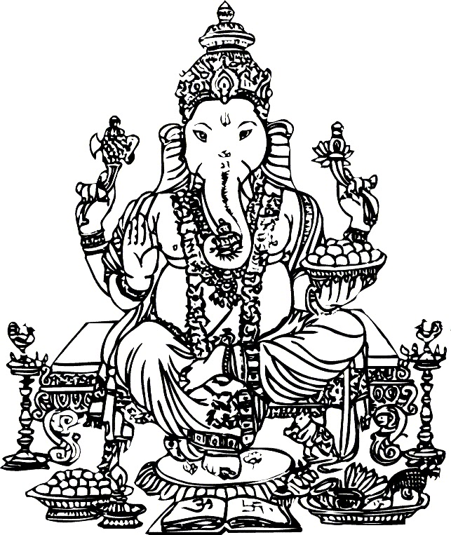 Pics Photos Ganesh Ji Image Black And White Free Cliparts That You Can