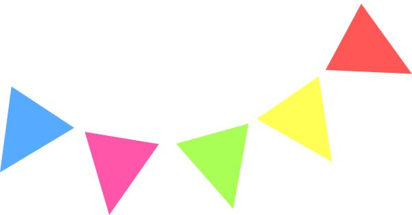 pennant banner templates free clipart best