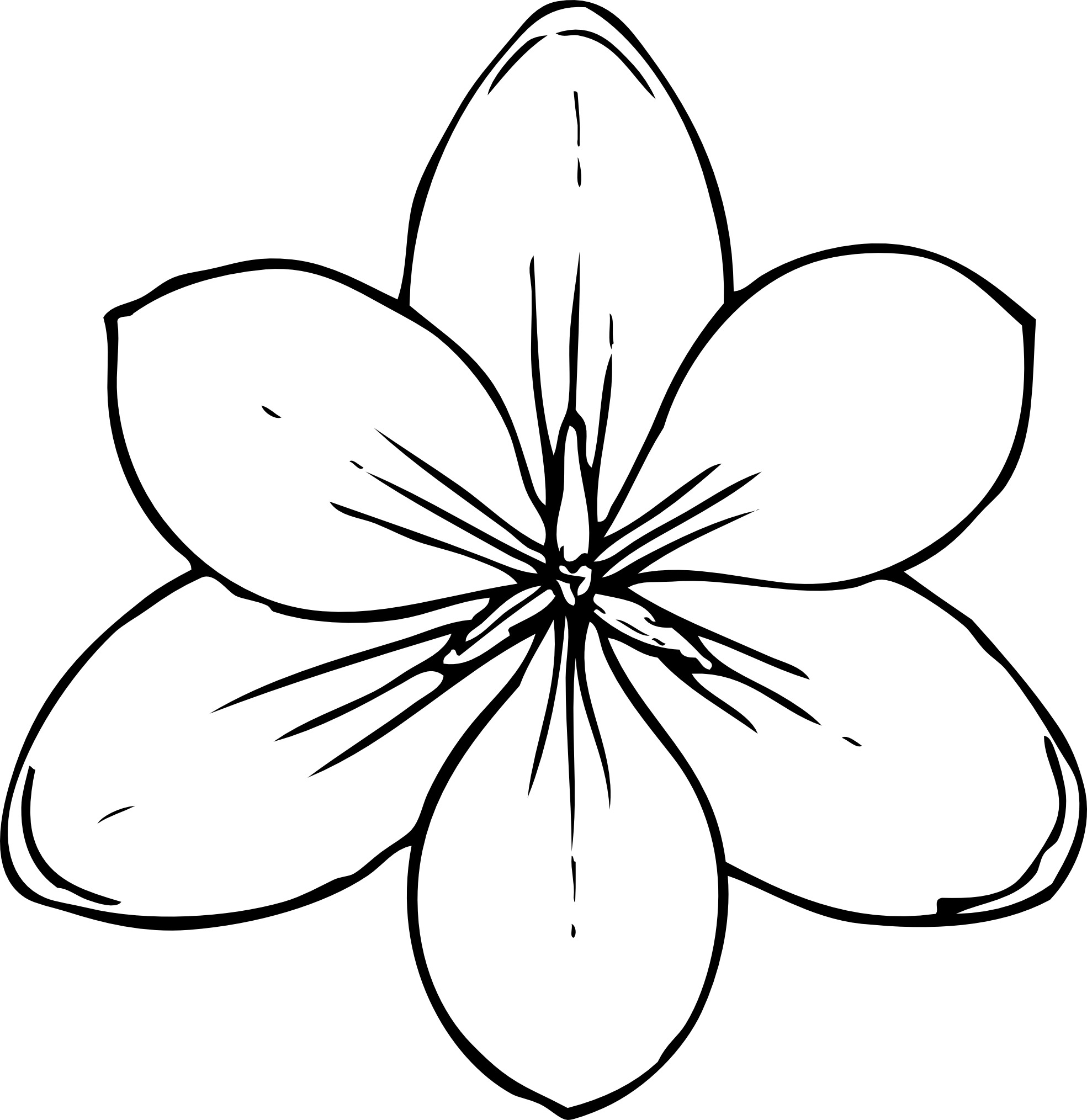 Line Art Flowers : Flower line art clipart best