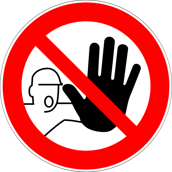 do not use sign printable