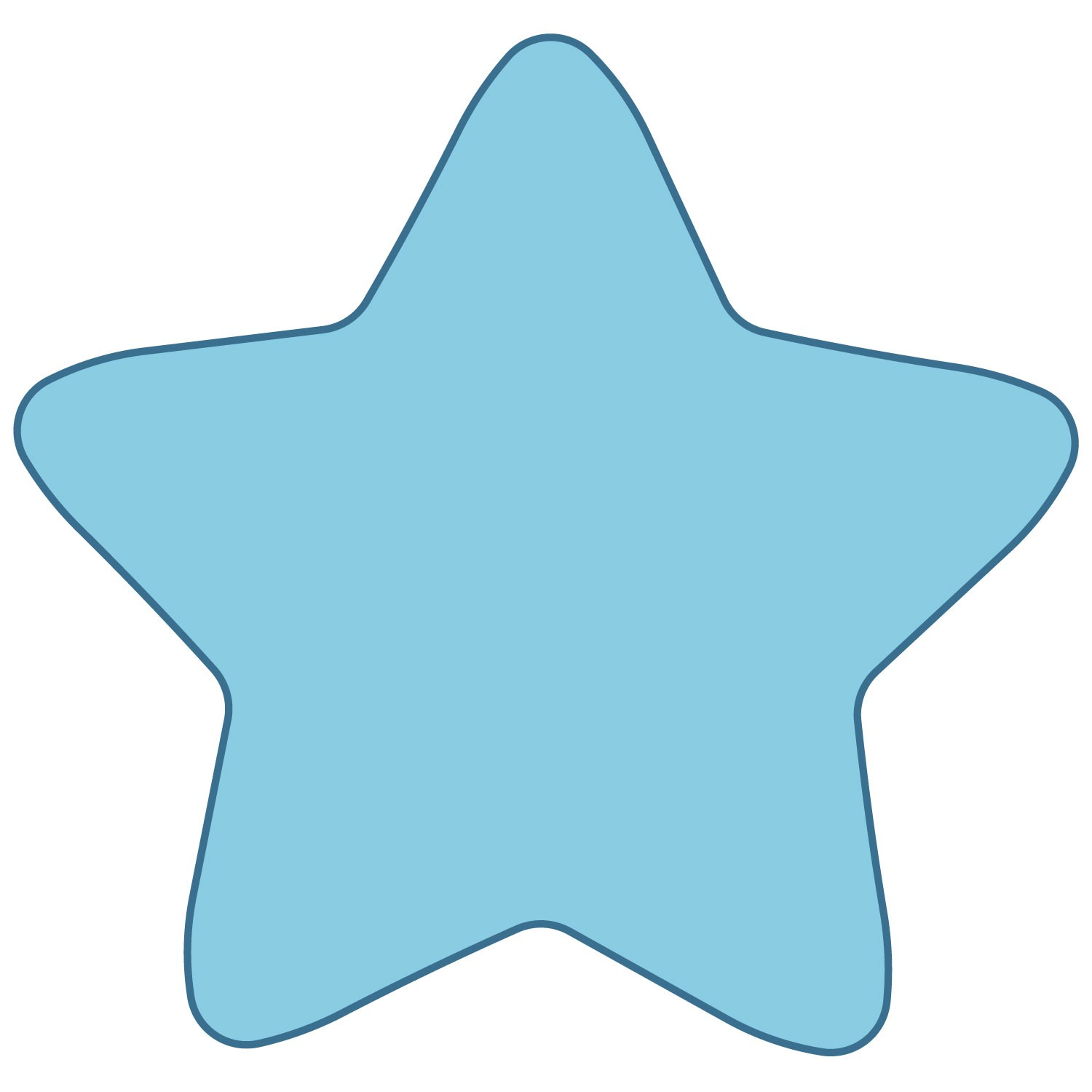 Rounded Star Template - ClipArt Best