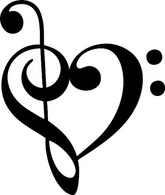 cool music heart tattoos drawings clipart best