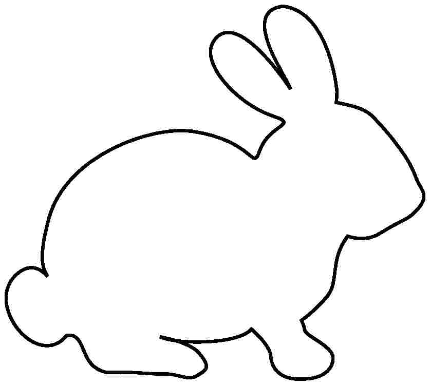 bunny print out coloring pages - free printable pictures of rabbits clipart best