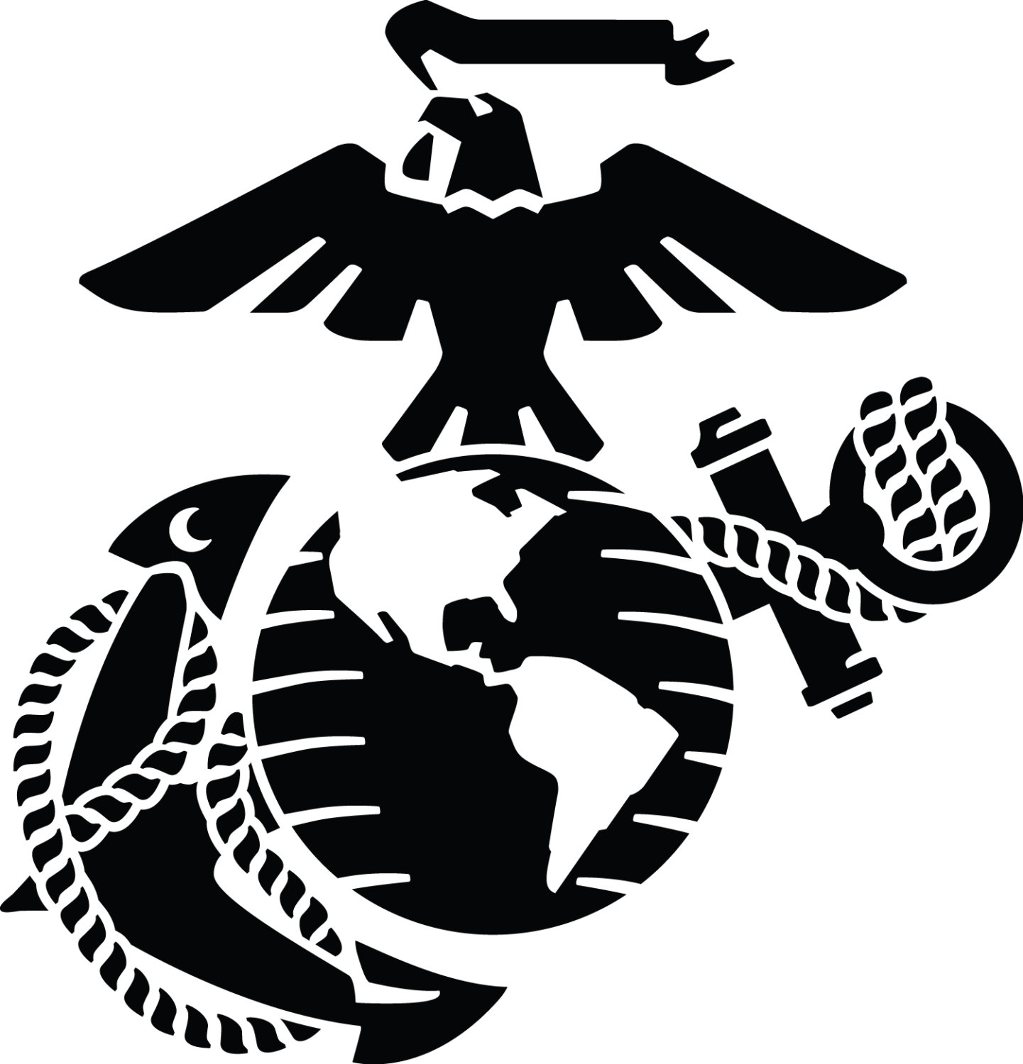 Marine Eagle Globe And Anchor Clip Art - Viewing Gallery