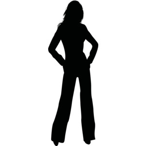 Silhouette of a girl clipart