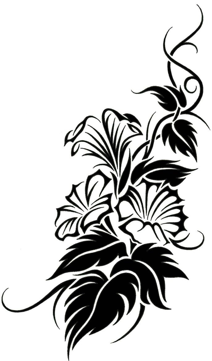 TRIBAL FLOWER TATTOO DESIGNS - ClipArt Best