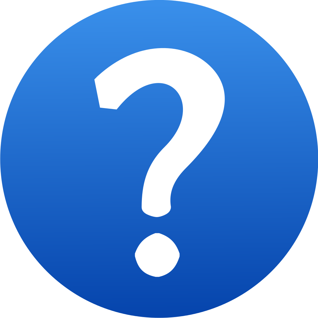 Blue question mark icon #13453 - Free Icons and PNG Backgrounds
