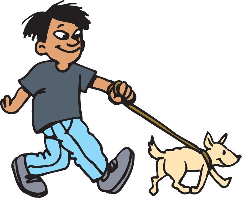 Walking The Dog - ClipArt Best