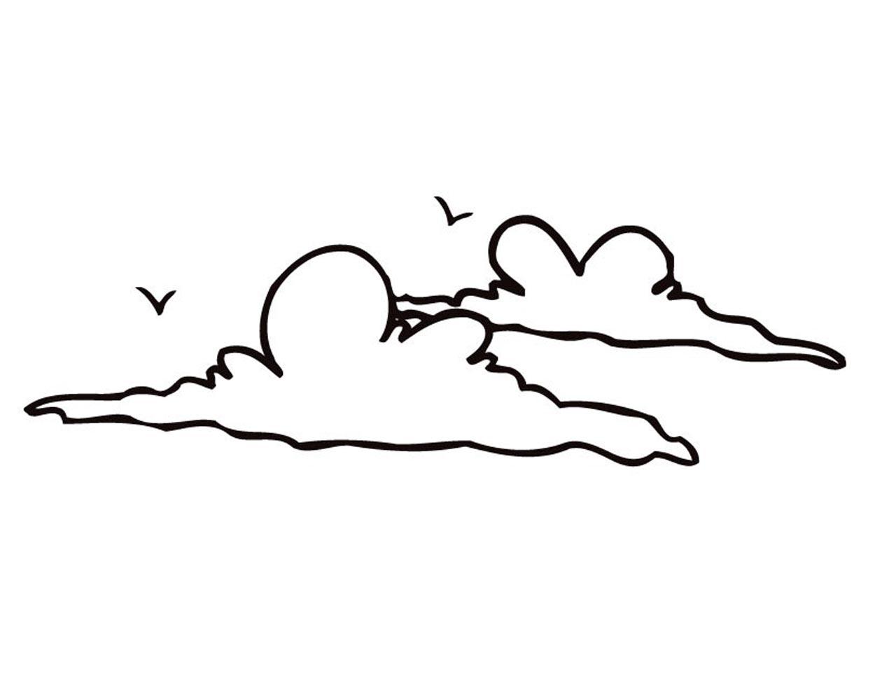 Cloud Coloring Pages Printable Clipart Best