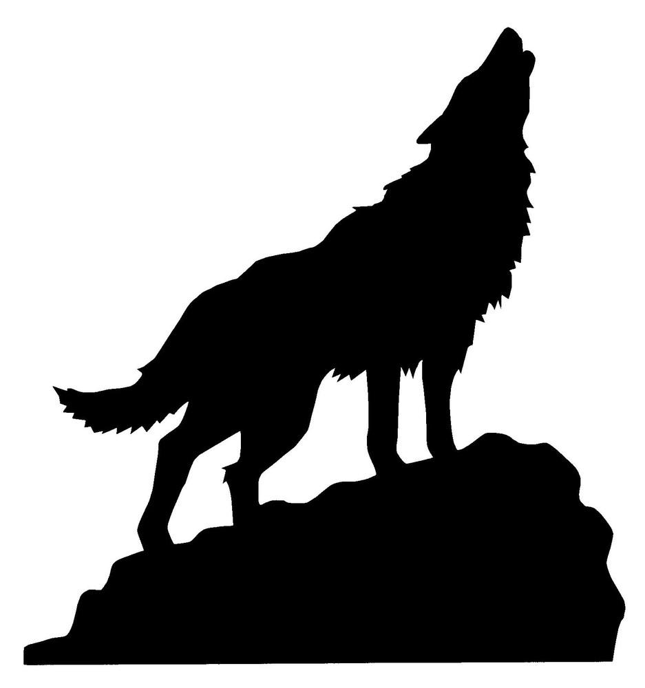 wolf silhouette howling clipart best Large Printable Deer Heads Silhouettes Buck Deer Clip Art