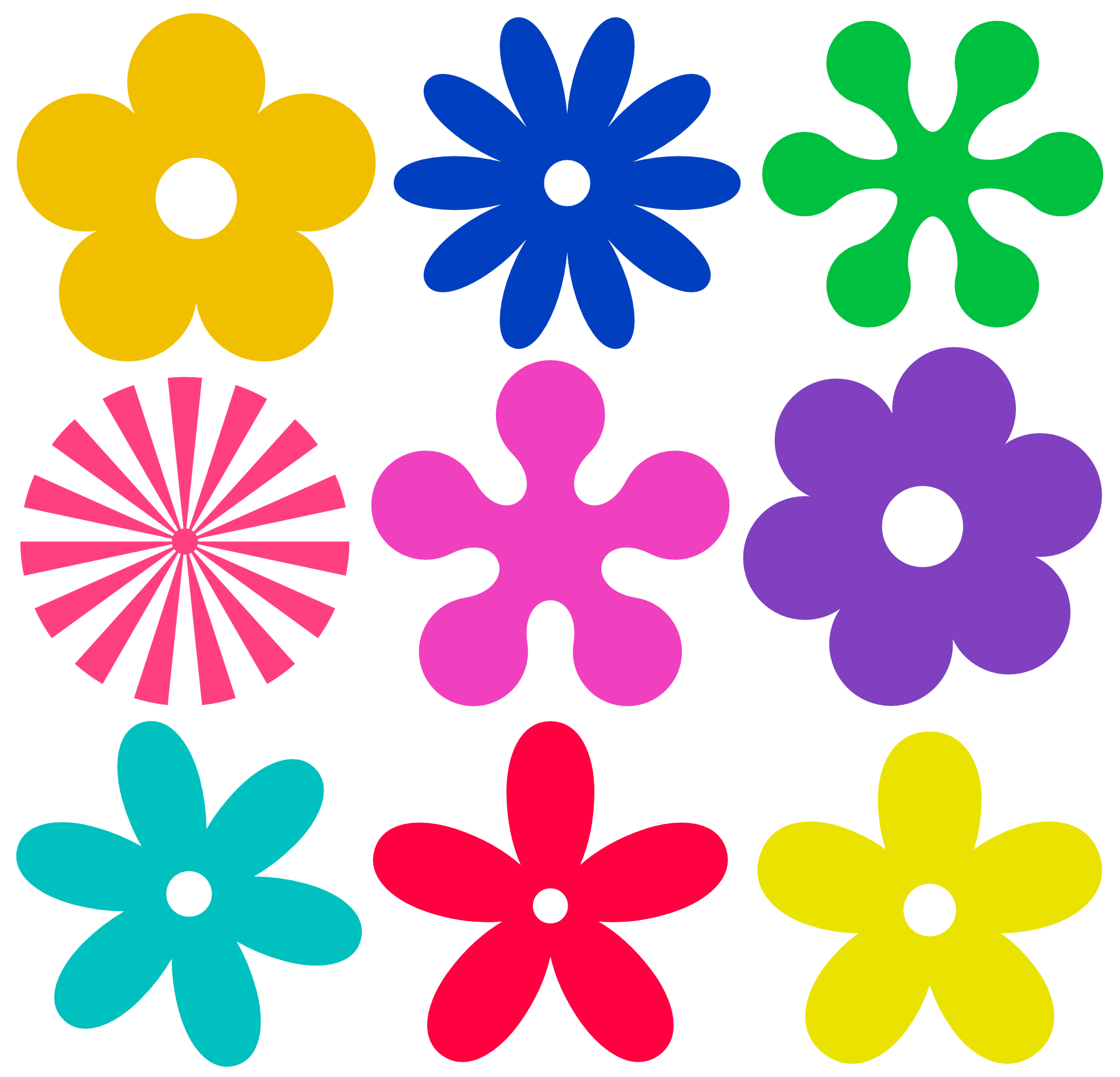 Hippie Daisies And Flowers Clipart - ClipArt Best