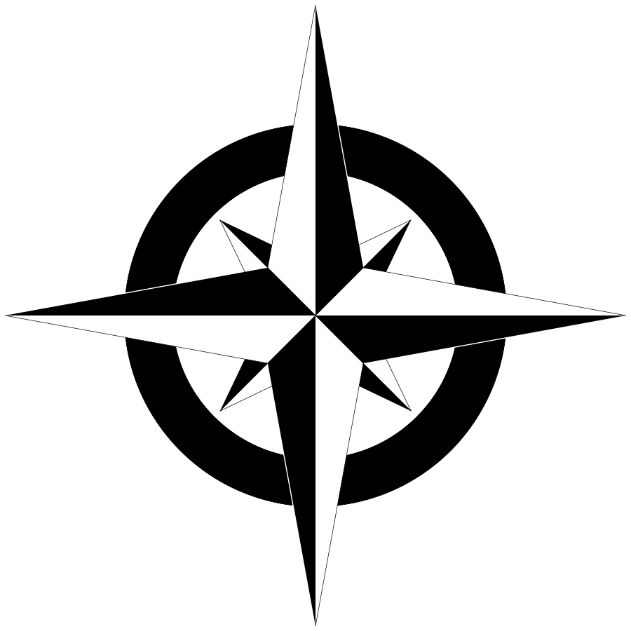 This is a photo of Dramatic Printable Compass Rose