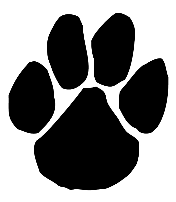 Panther Paw Print Clip Art