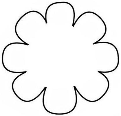 5 Petal Flower Templates Clipart Best