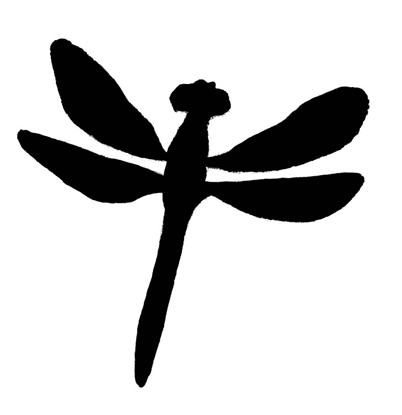 Free Dragonfly Clipart Black And White Dragonfly Clipart Black And