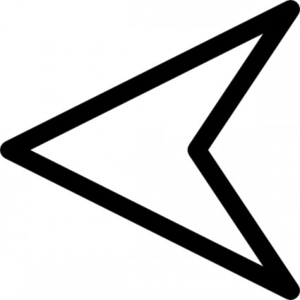 White arrow clip art