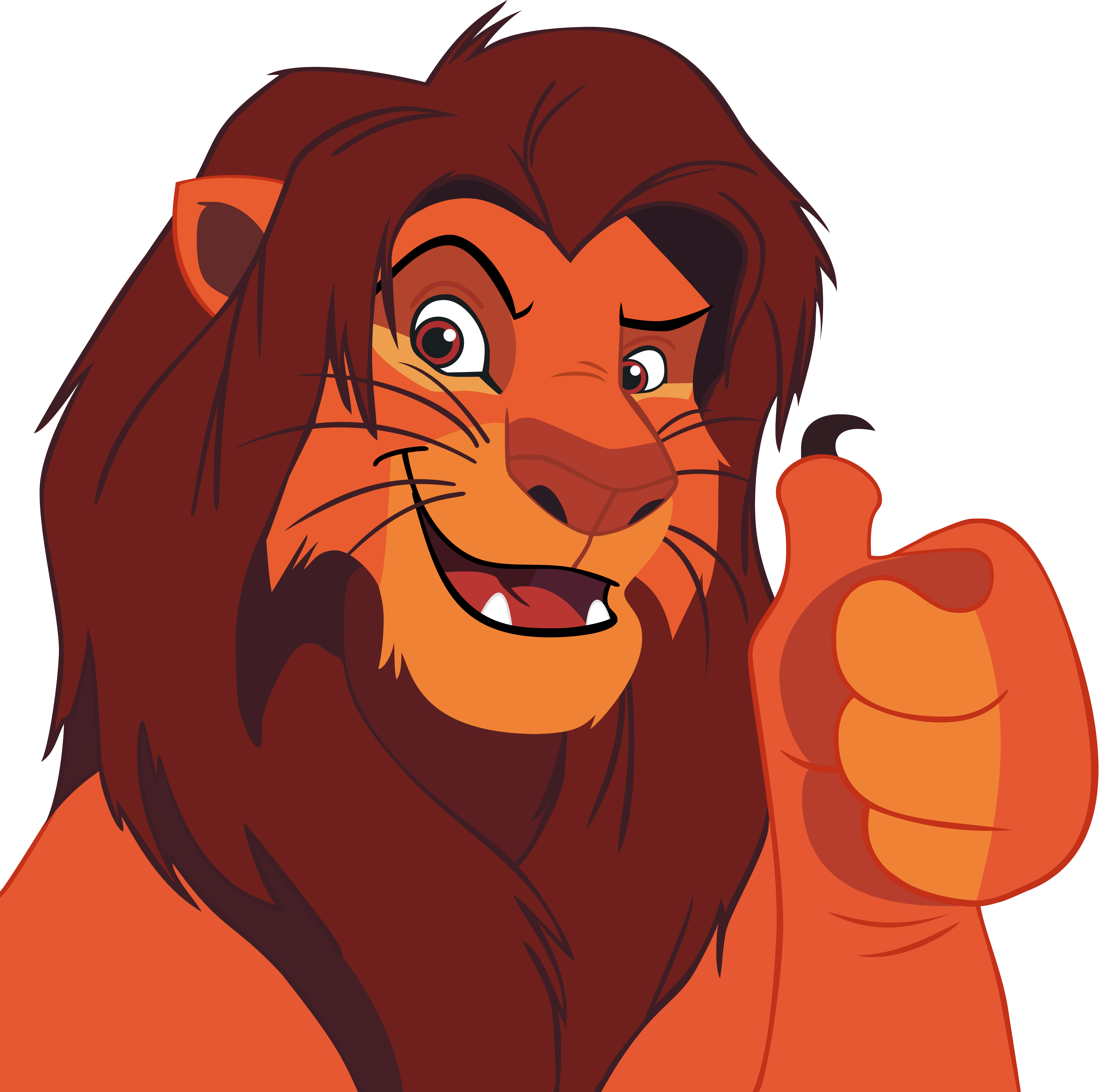 simba up thumbs - ClipArt Best - ClipArt Best