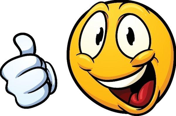 smiley mit daumen