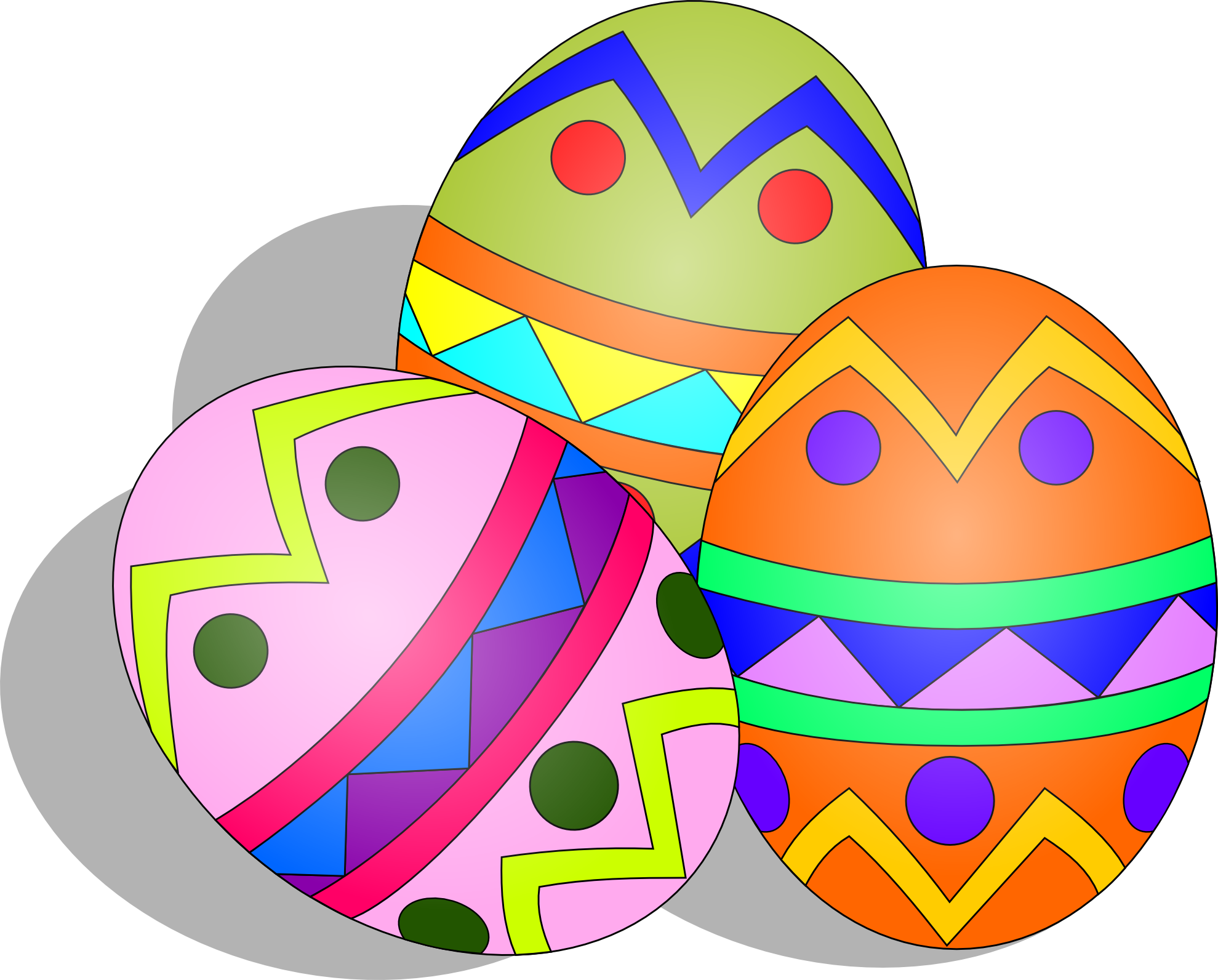 Clip Art Easter Eggs Easteregg Easter Scallywag