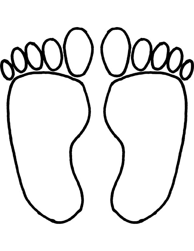 printable coloring pages of feet - photo#2