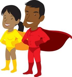 Clip Art Of Children As Super Heroes - ClipArt Best